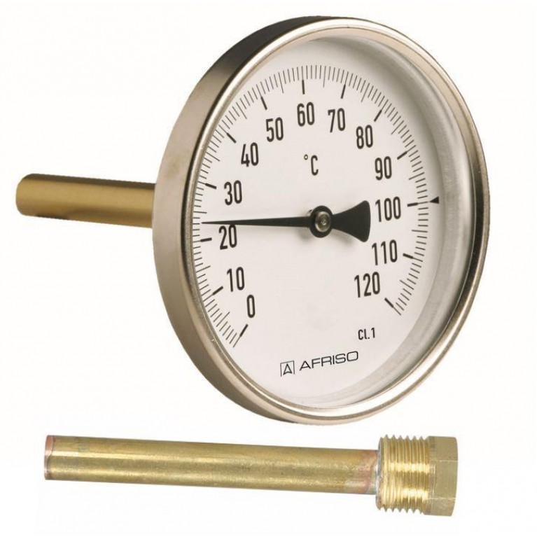 Термометр AFRISO BiTh 63 ST/40 0-120С подключение G1/2
