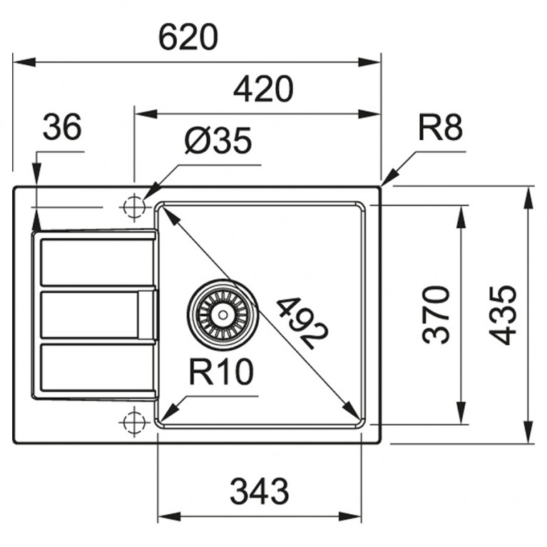 Кухонная мойка Franke Sirius 2.0 S2D Slim 611-62 (143.0631.535) цвет черный 143.0631.535, фото 2