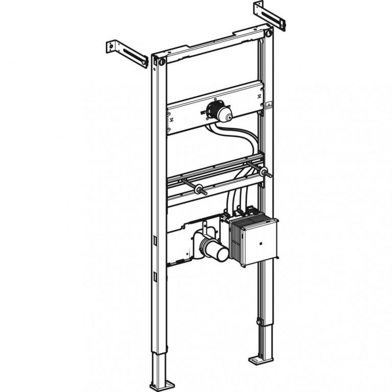 Монтажный элемент Geberit Duofix для умывальников с функциональным блоком скрытого монтажа, высота 130 см 111.560.00.1, фото 2
