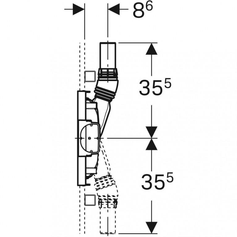 Монтажный элемент Geberit Duofix для душевых систем с площадкой для смесителя, H130 см, под стяжку 65-90 мм 111.581.00.1, фото 3