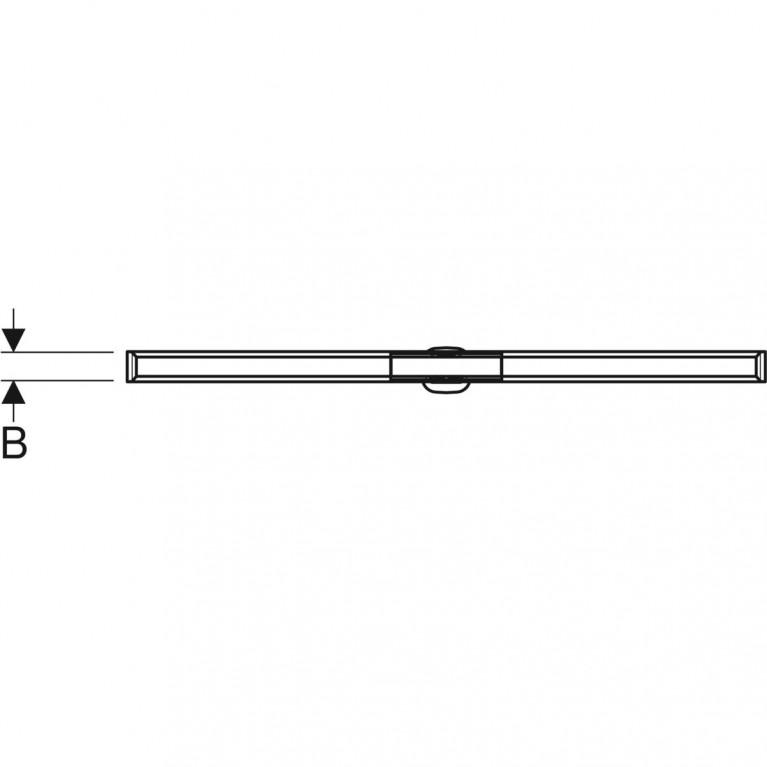 Дренажный канал Geberit CleanLine20 полированная нержавеющая сталь 30-130 см 154.451.KS.1, фото 4