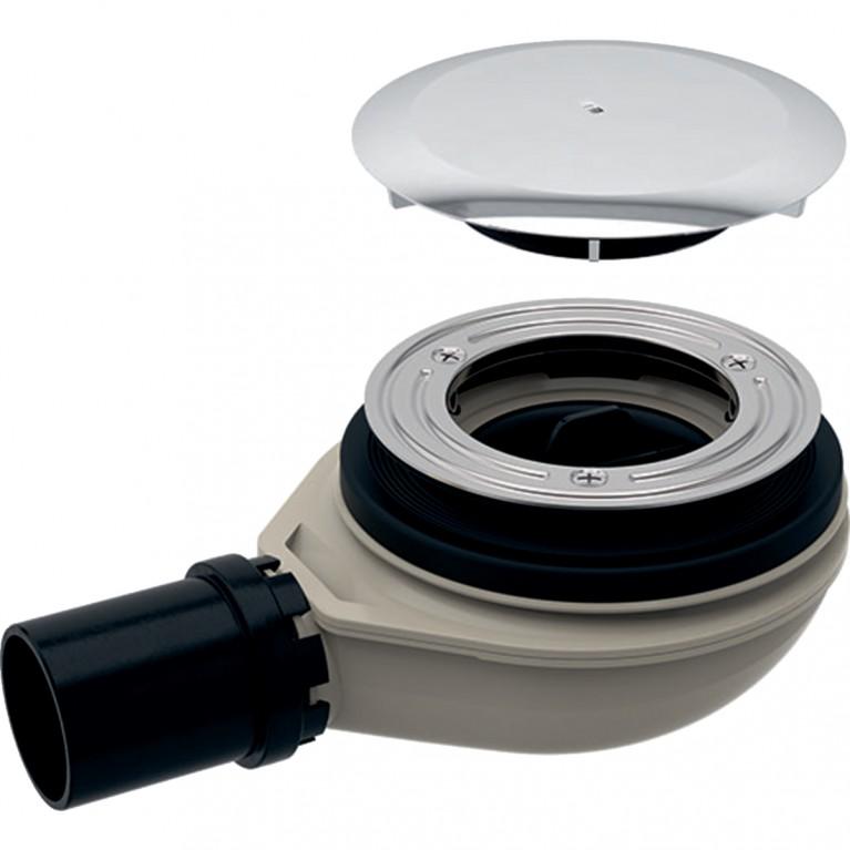 Сифон для душевого поддона Geberit d90, с крышкой сливного отверстия, высота гидрозатвора 30 мм