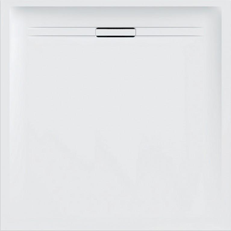 Квадратный душевой поддон Geberit Sestra, 90x90 см белого цвета