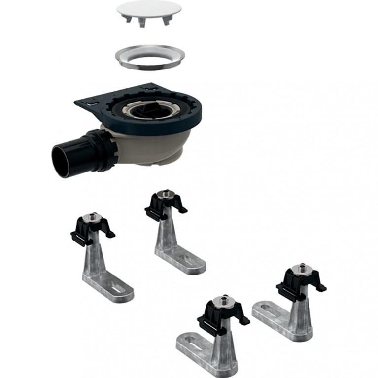 Сифон для душевых поддонов Geberit с четырьмя ножками, для душевого поддона Setaplano, высота гидрозатвора 50 мм