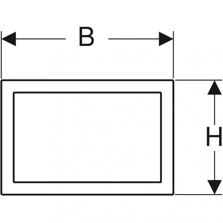 Облицовочная рамка Geberit для смывной клавиши Omega 60, хром глянцевый 115.086.21.1, фото 2
