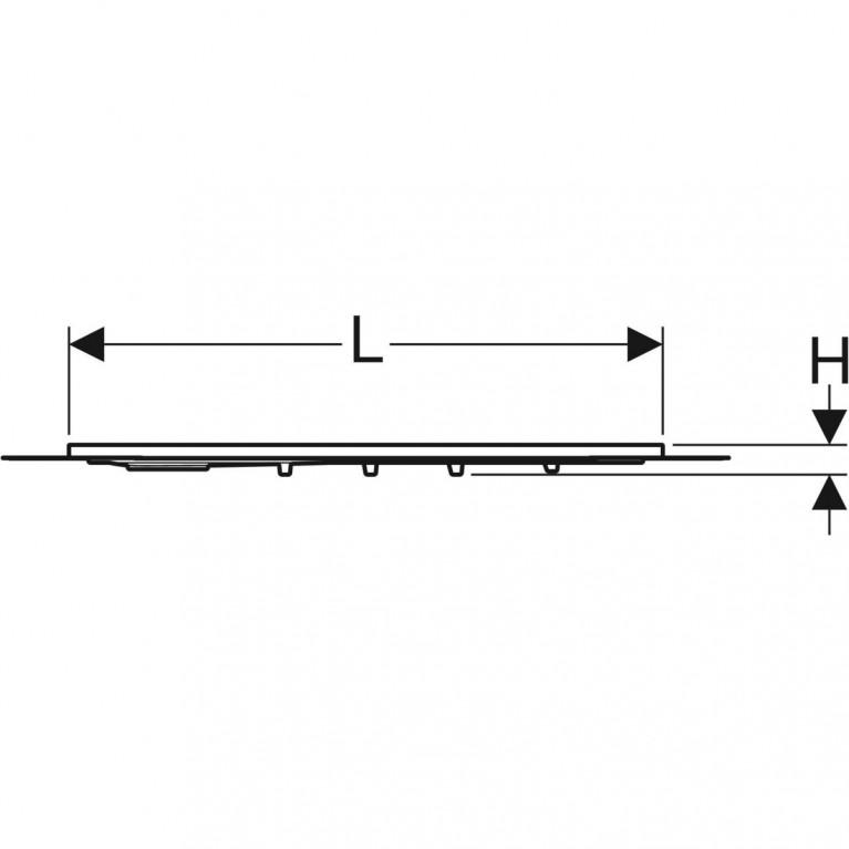 Поверхность для душевой зоны Geberit Setaplano, защита от скольжения, 90х90 см 154.270.11.1, фото 2