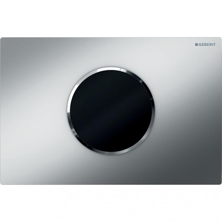 Смывная клавиша бесконтактная Geberit Sigma10, питание от батарей, двойной смыв, цвет хром матовый и глянцевый