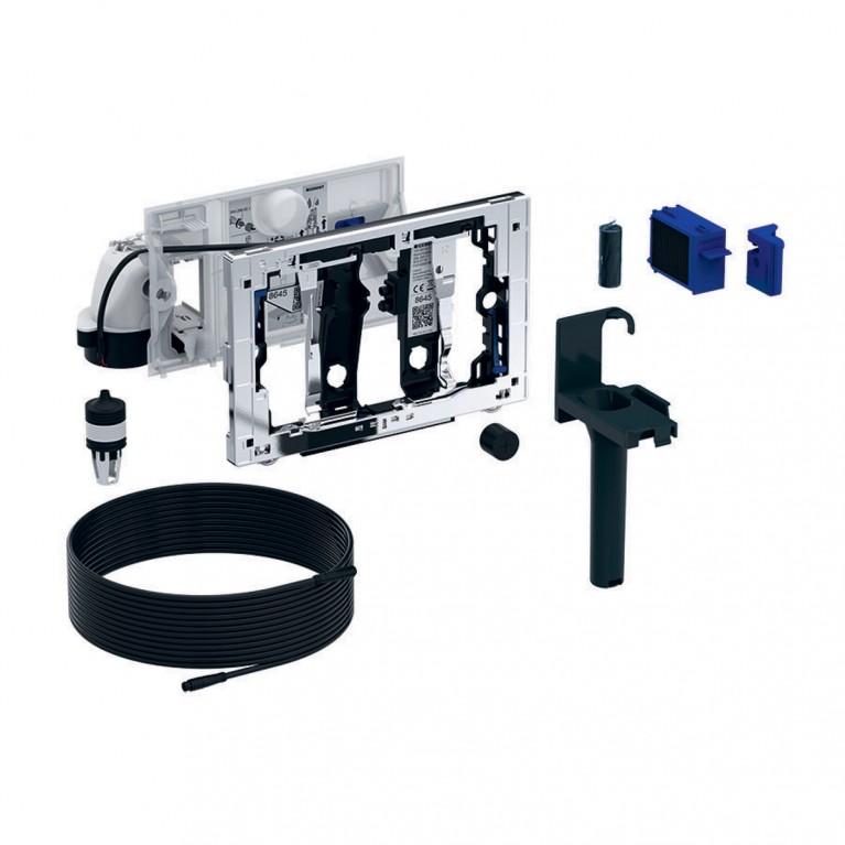 Модуль удаления запахов c автоматическим пуском GEBERIT DUOFRESH для бачка Sigma 12см, серый антрацит RАL 7016