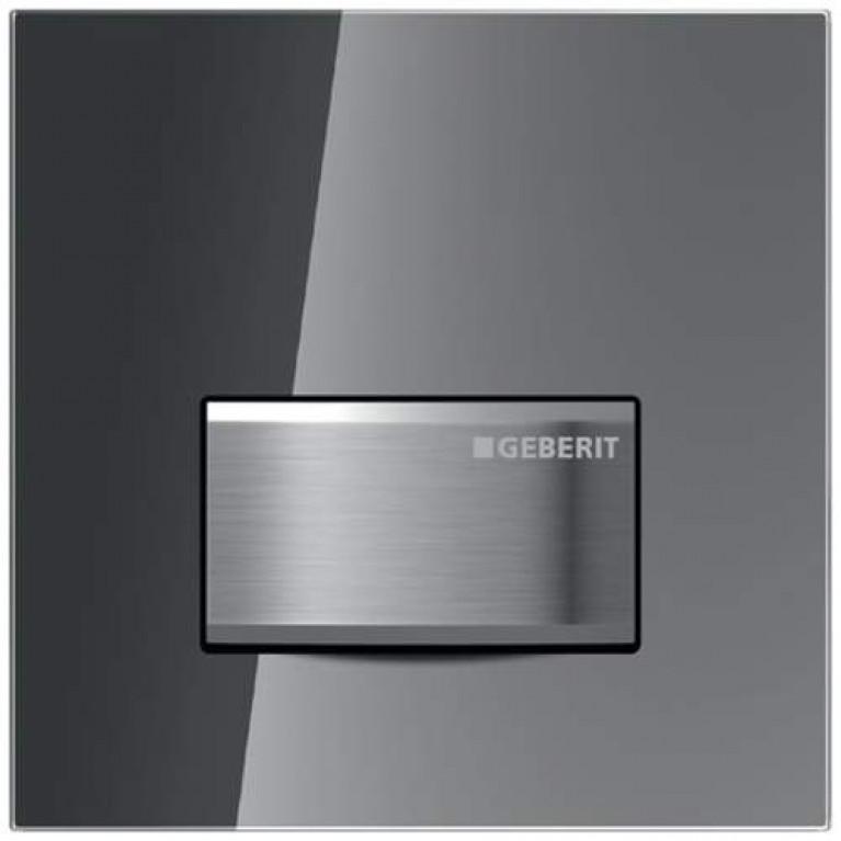 Ручной пневмопривод смыва писсуара GEBERIT HyTouch для бачка Sigma50, зеркальное дымчатое стекло
