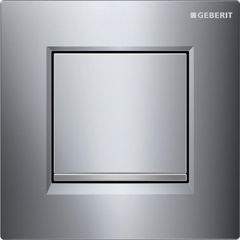Кнопка смыва GEBERIT Sigma 30 для инсталляции писсуара, хром глянцевый и матовый