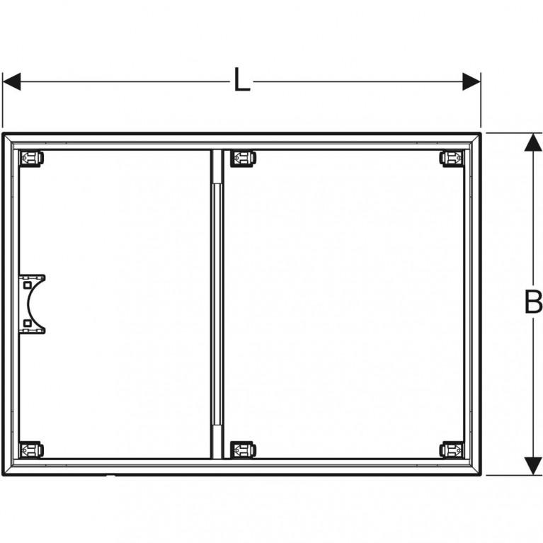 Инсталляционная рама Geberit для поверхности душевой зоны, душевого поддона Setaplano 120x80 см 154.464.00.1, фото 3
