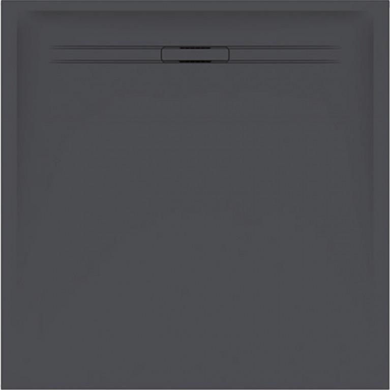 Квадратный душевой поддон Geberit Sestra, 90x90 см цвет графит