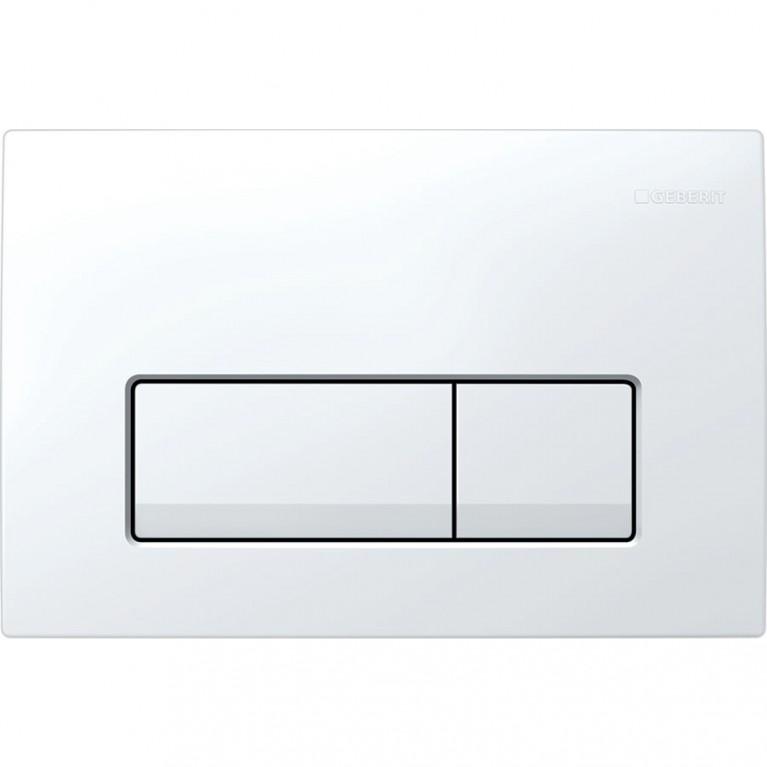 Смывная клавиша Geberit Delta51 двойной смыв, белого цвета