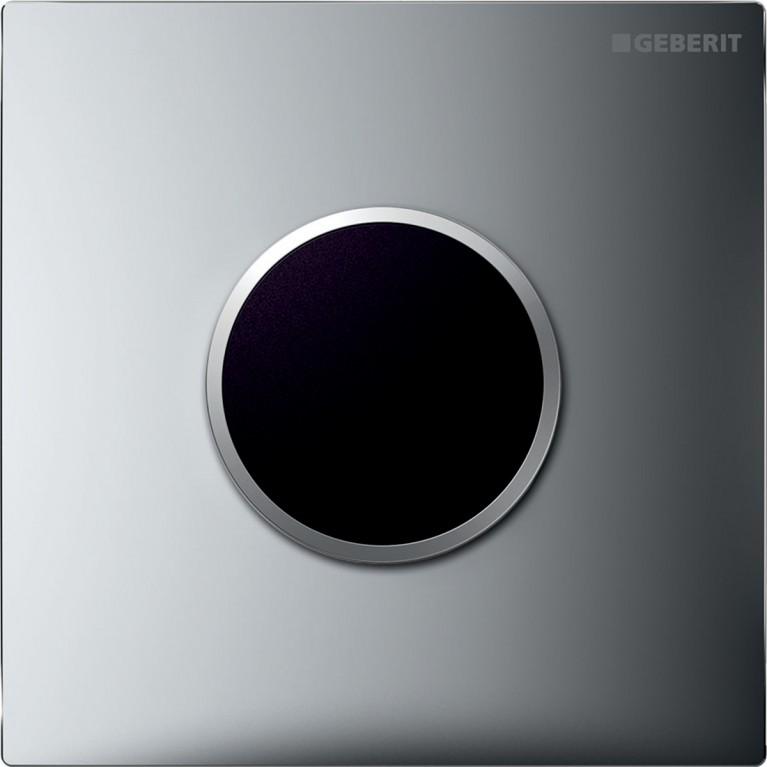 Система электронного управления смывом писсуара Geberit, питание от сети, защитная крышка типа 10, хром