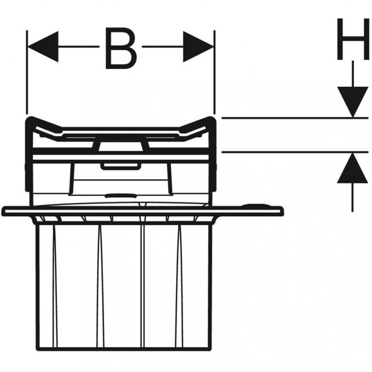 Дренажный канал Geberit CleanLine20 полированная нержавеющая сталь 30-130 см 154.451.KS.1, фото 6