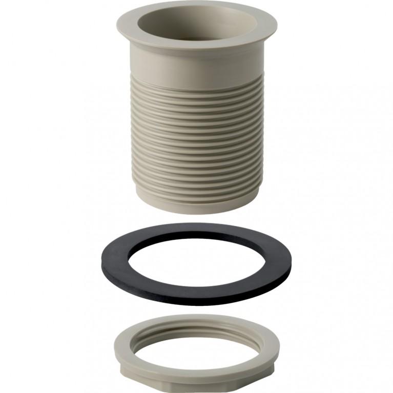 Сливной клапан Geberit с круглой резьбой для раковин, писсуаров и биде из нержавеющей стали