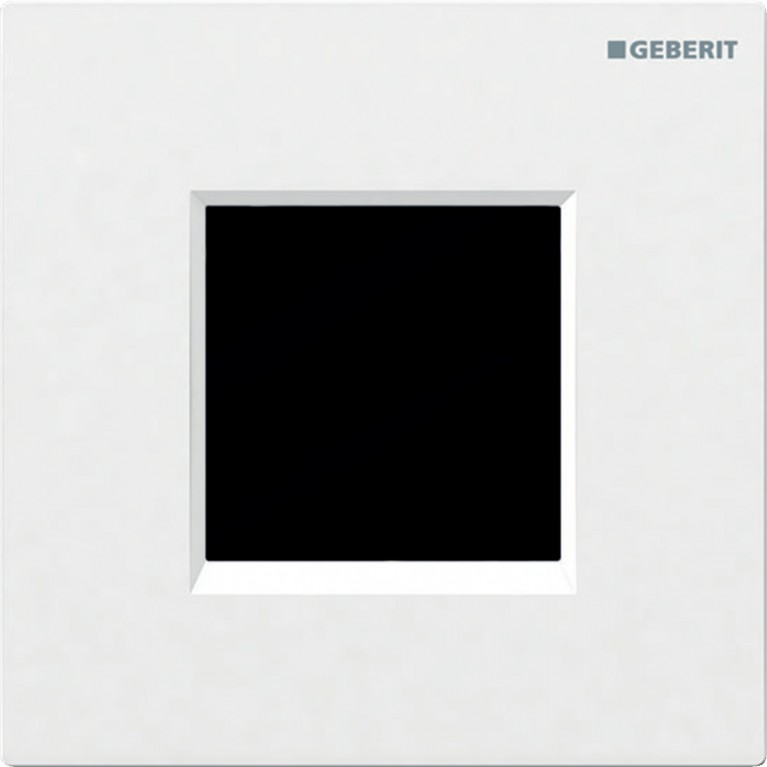 Система электронного управления смывом писсуара Geberit, питание от батарей, крышка type30, белого цвета