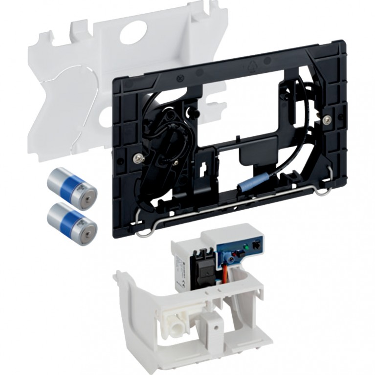 Система электронного управления смывом унитаза Geberit питание от батарей для беспроводной клавиши Sigma12