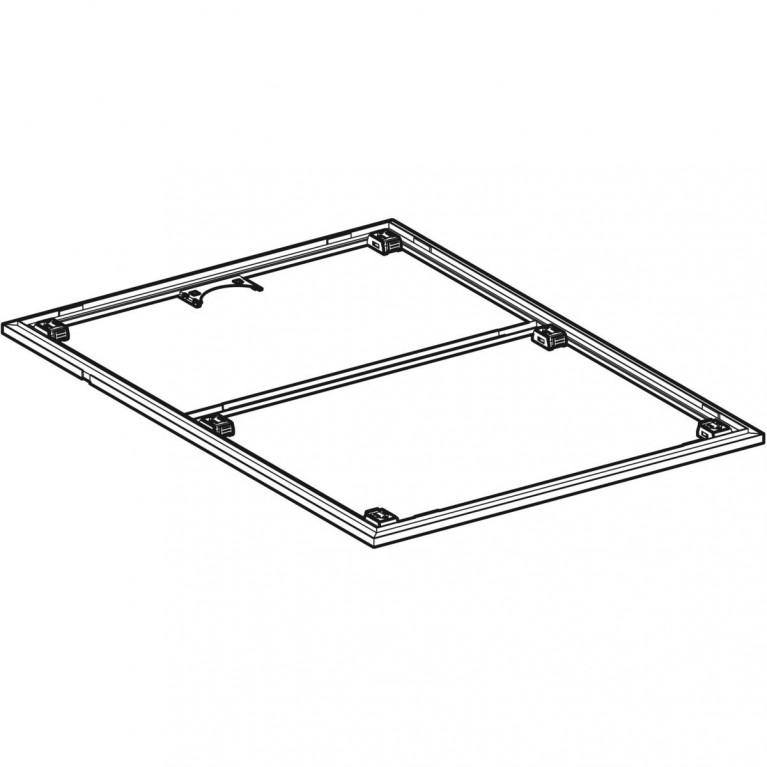 Инсталляционная рама Geberit для поверхности душевой зоны, душевого поддона Setaplano 120x80 см 154.464.00.1, фото 4