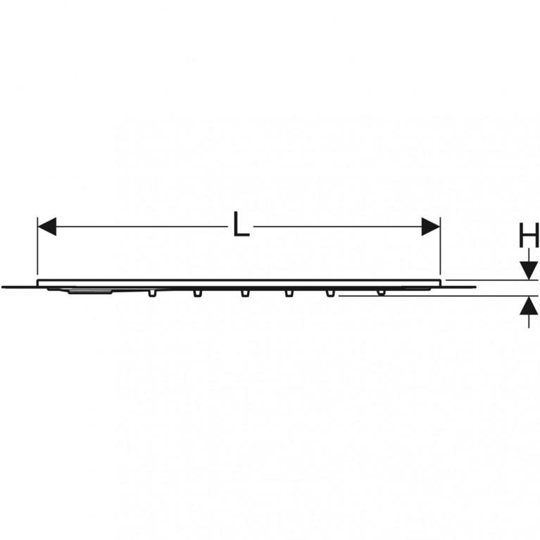 Поверхность для душевой зоны Geberit Setaplano, защита от скольжения, 80х120 см 154.264.11.1, фото 2