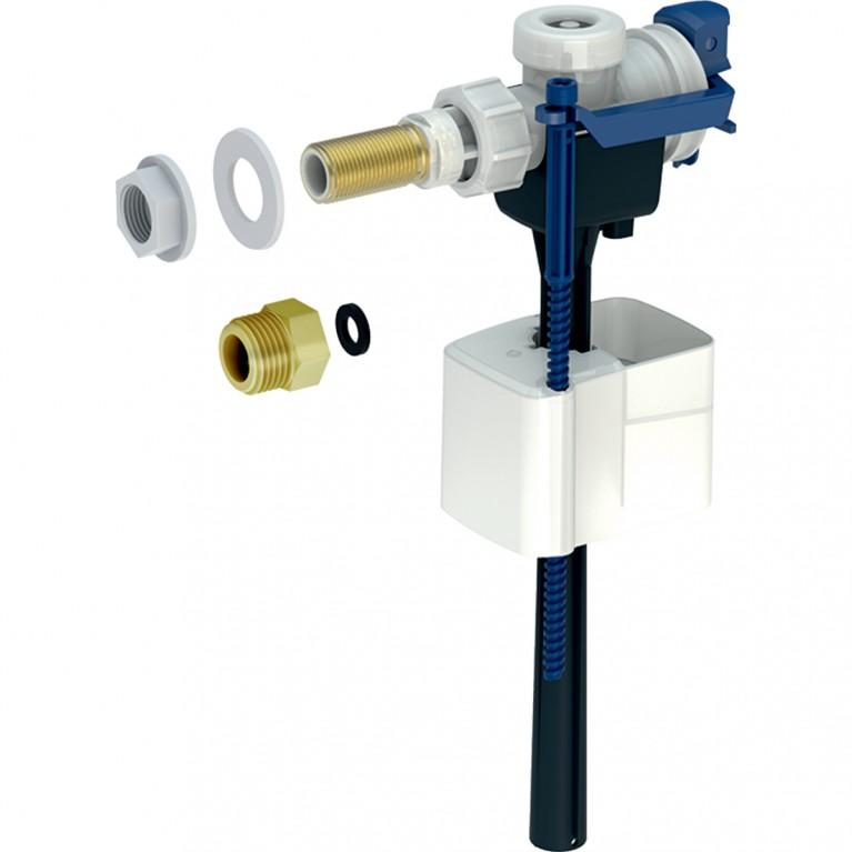 Впускной клапан Geberit тип 333, подвод воды сбоку, 3/8 и 1/2, ниппель из латуни
