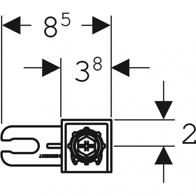 Комплект крепления к стене Geberit Duofix  111.815.00.1, фото 2