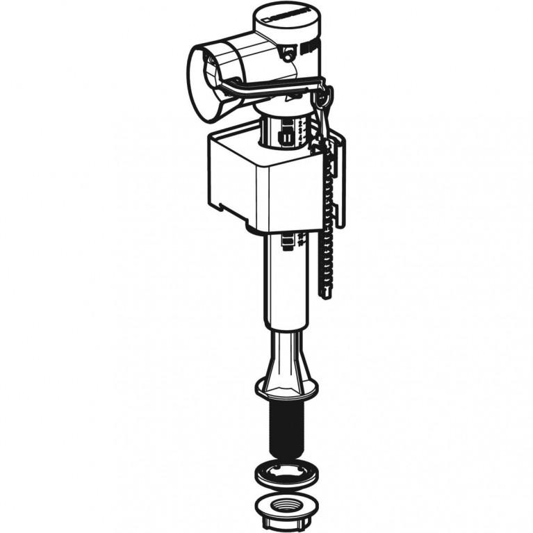 Впускной клапан Geberit тип 340 для керамических бачков, подвод воды снизу 1/2 136.726.00.1, фото 3