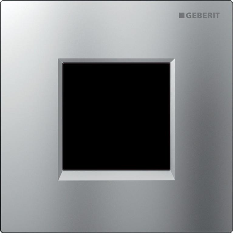 Система управления смывом писсуара Geberit электронное управление, питание от сети, хром матовый