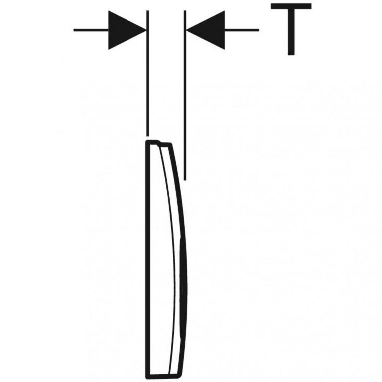 Смывная клавиша Geberit Delta21 двойной смыв, цвет хром глянцевый 115.125.21.1, фото 2