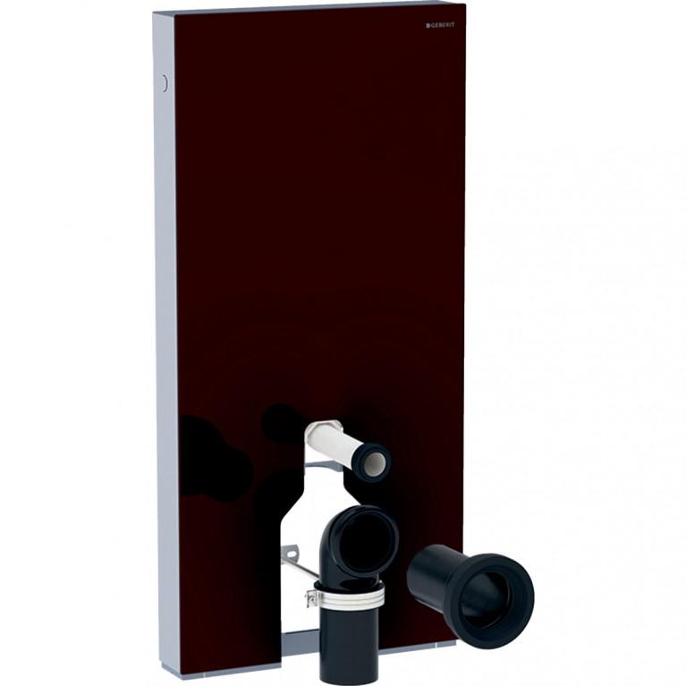 Сантехнический модуль Geberit Monolith Plus для напольного унитаза, 101 см, стекло цвет умбра, алюминий