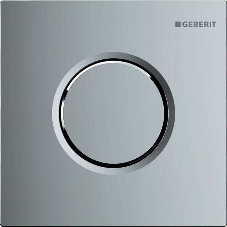 Система пневматического управления смывом писсуара Geberit, смывная клавиша Sigma01, хром глянцевый