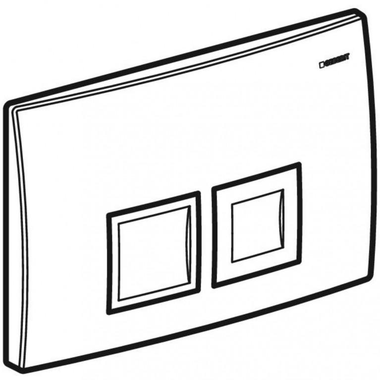 Смывная клавиша Geberit Delta50 двойной смыв, цвет хром матовый 115.135.46.1, фото 4