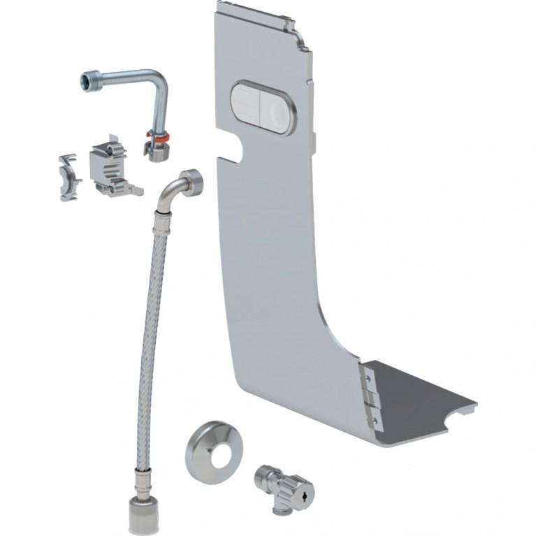 Комплект подвода воды стандартный для Geberit AquaClean Mera глянцевый хром, фото 1