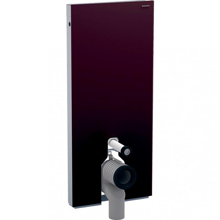 Сантехнический модуль Geberit Monolith для напольного унитаза, 114 см, стекло умбра и алюминий