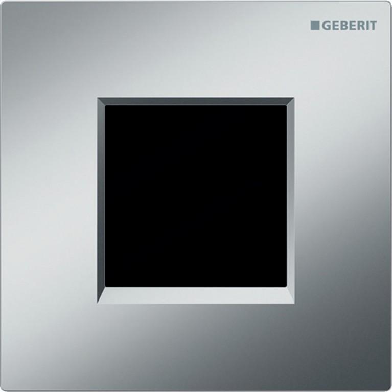 Система электронного управления смывом писсуара Geberit, питание от батарей, крышка type30, хром матовый