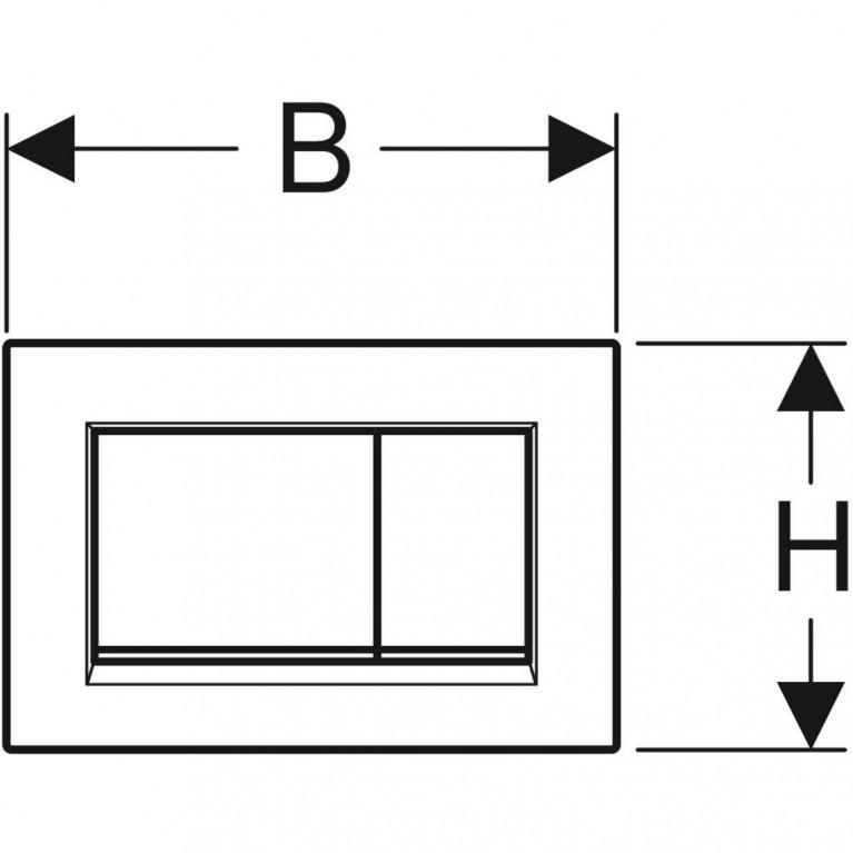 Смывная клавиша Geberit Sigma30 двойной смыв с легкоочищаемой поверхностью, черный матовый и хром глянцевый 115.883.14.1, фото 3