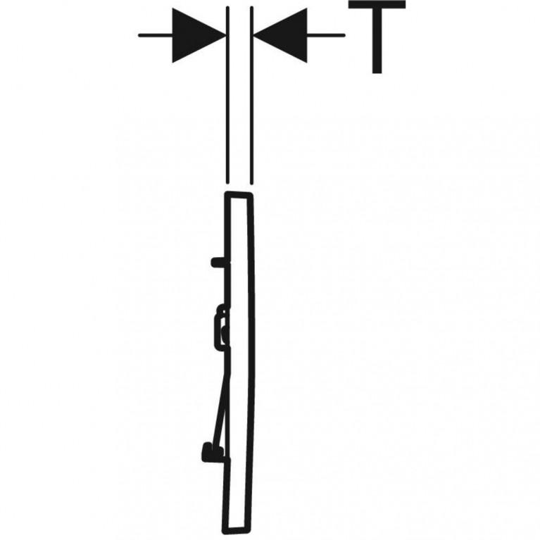 Смывная клавиша Geberit Sigma30 двойной смыв с легкоочищаемой поверхностью, черный матовый и хром глянцевый 115.883.14.1, фото 2