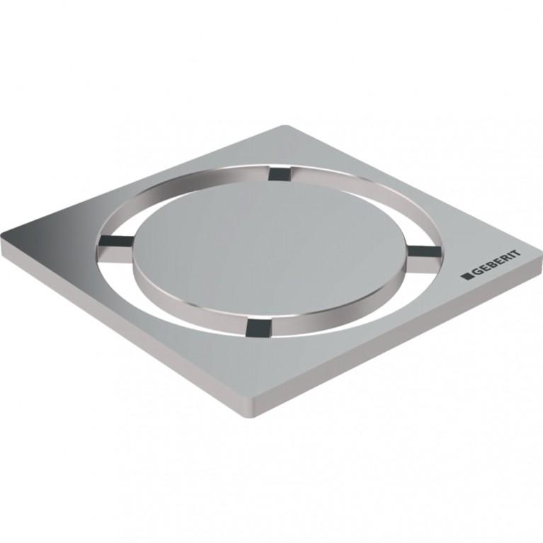 Дизайнерская решетка Geberit Circle для трапов для душевых систем, 8x8 см