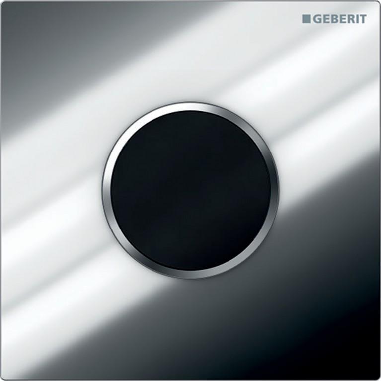Система электронного управления смывом писсуара Geberit, питание от батарей, Sigma10, хром глянцевый и матовый