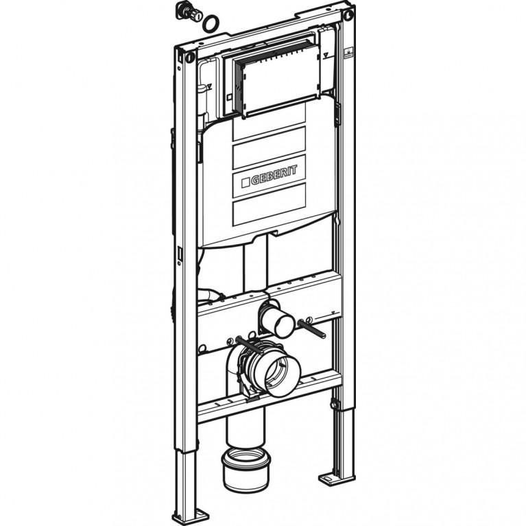 Инсталляция для подвесного унитаза GEBERIT Duofix H112 со встроенным бачком Sigma 12 см 111.300.00.5, фото 2