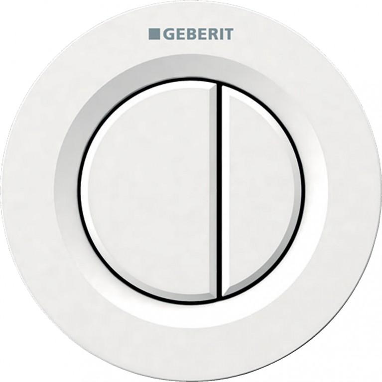 Пневмоклавиша смыва Geberit дистанционная TYPE01, двойной смыв, белого цвета