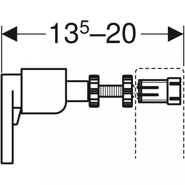 Комплект крепления к стене Geberit Duofix  111.815.00.1, фото 3