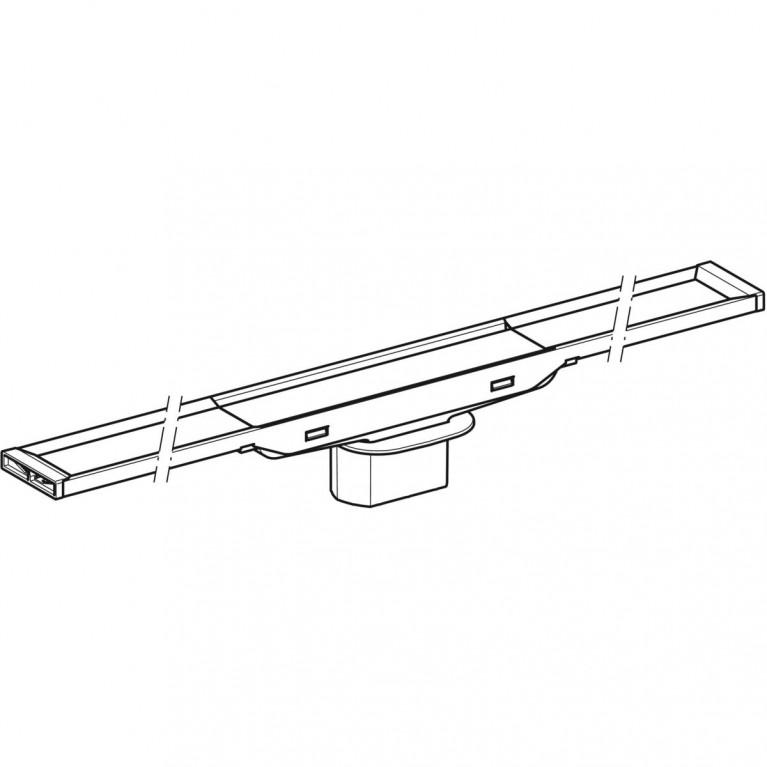 Дренажный канал Geberit CleanLine20 полированная нержавеющая сталь 30-130 см 154.451.KS.1, фото 3