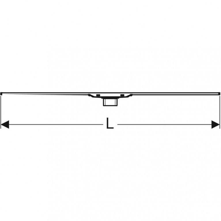 Дренажный канал Geberit CleanLine20 полированная нержавеющая сталь 30-130 см 154.451.KS.1, фото 5