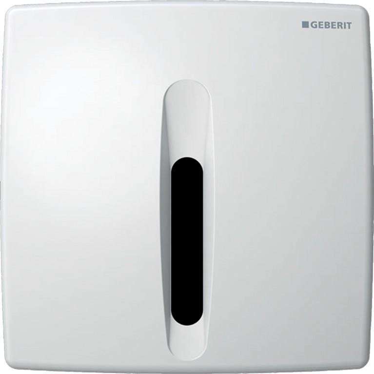 Система электронного управления смывом писсуара Geberit, питание от сети, защитная крышка пластик, Basic белая