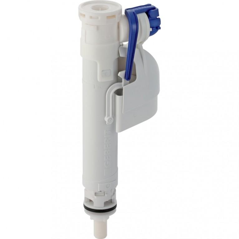 Впускной клапан Geberit IMPLUS 360, подвод воды снизу, пластиковый ниппель 3/8