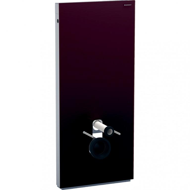 Сантехнический модуль Geberit Monolith для подвесного унитаза, 114 см, стекло цвет умбра, алюминий
