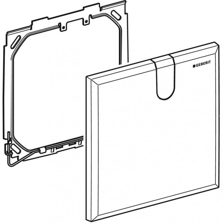 Защитная крышка Geberit для скрытого функционального блока смесителей для умывальников, цвет белый 116.425.11.1, фото 4