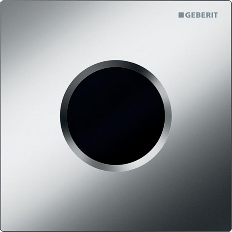 Система электронного управления смывом писсуара Geberit, питание от сети, защитная крышка тип 01, хром матовый
