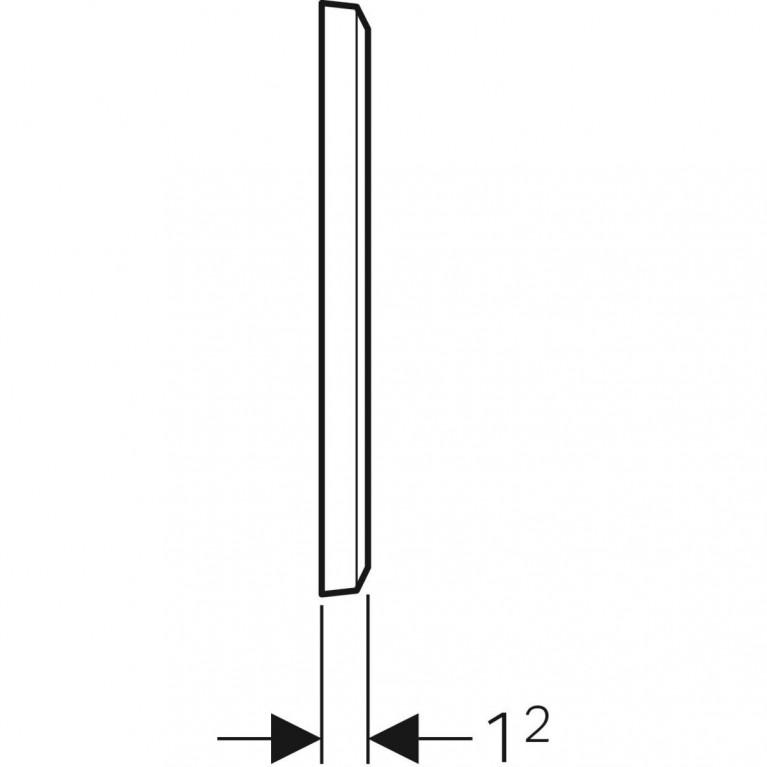 Защитная крышка Geberit для скрытого функционального блока смесителей для умывальников, цвет белый 116.425.11.1, фото 2